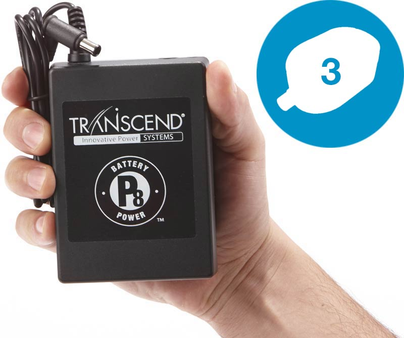 Transcend P8 miniCPAP battery